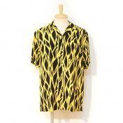 【Rags McGREGOR-ラグスマックレガー】OG LIGHTNING PRT O/C SHIRT【YELLOW】