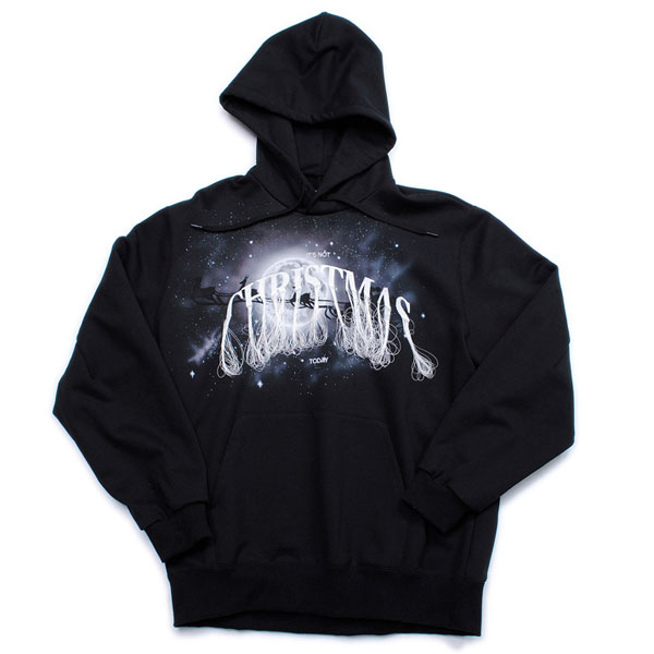 【doublet/ダブレット】NOT ANNIVERSARY EMBROIDERY HOODIE【BLK】