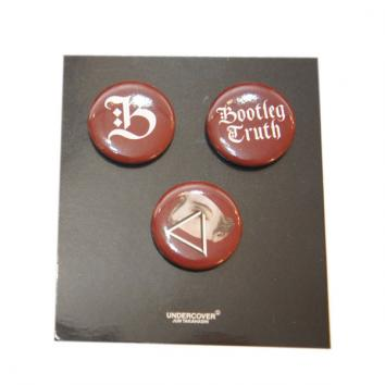 【UNDERCOVER-アンダーカバー】BADGES SET 1 3pcs【BORDEAUX】