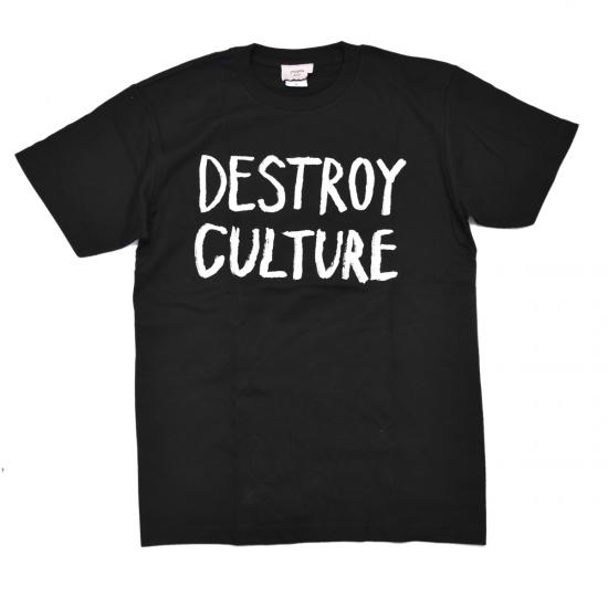 【AZS TOKYO-アザス トーキョー】DESTROY CULTURE Tシャツ【BLK】