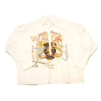 【doublet/ダブレット】CHAOS EMBROIDERY SKIPPER SHIRT 【WHITE】
