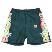【doublet/ダブレット】CHAOS EMBROIDERY CHAMBRAY SHORT PANTS【GREEN】
