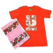 【UNDERCOVER-アンダーカバー】KIDS TEE Botanical U【RED】