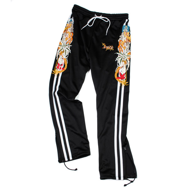 【doublet/ダブレット】CHAOS EMBROIDERY TRACK PANT【BLACK】