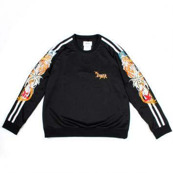 【doublet/ダブレット】CHAOS EMBROIDERY TRACK PULLOVER【BLACK】