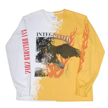 【DOUBLET/ダブレット】BONDING OPAL PRINT LONG SLEEVE【YELLOW】