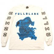 【FULL-BK/フルビーケー】RETRO FUTURE DRAGON LS TEE【WHITE】