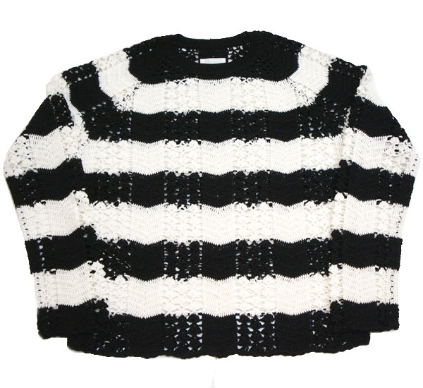 【TheSoloist-ソロイスト】grandma sweater.【BLACK×WHITE】
