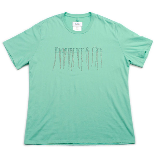 【doublet/ダブレット】CHAIN FRINGE EMBROIDERY T-SHIRT【EMERALD】