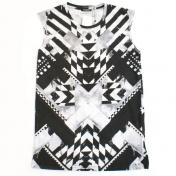 【BALMAINhomme-バルマンオム】T-SHIRT SLEEVELESS PRINTED