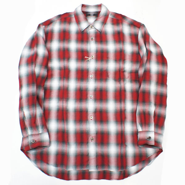 【Rags McGREGOR-ラグスマックレガー】OMBRE CHECK SHIRTS【RED】