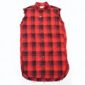 【Rags McGREGOR-ラグスマックレガー】NO SLEEVE LONG SHIRTS【RED】