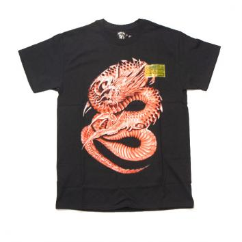 【FULL-BK/フルビーケー】AIR BRUSH DRAGON TEE【RED】