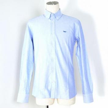 【Maison Kitsune-メゾン キツネ】CLASSIC SHIRT BD SOLID Fox embroidery【BLUE】
