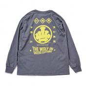 【The Wolf In Sheep's Clothing】 <MAE-KAKE> L/S T-Shirts 【CHA】
