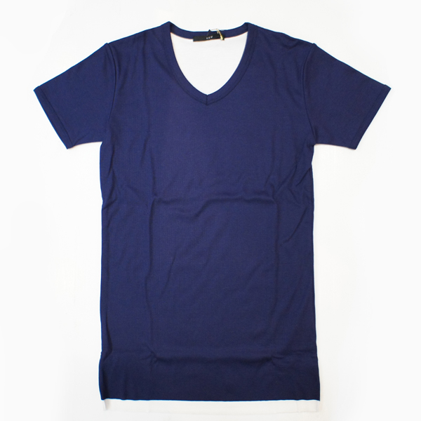 【AKM】double deep V 【NAVY】