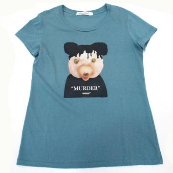 【UNDERCOVER-アンダーカバー】(Lady's)BEAR TEE【B.BLUE GRAY】