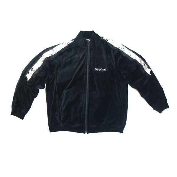 【doublet/ダブレット】LINED CHAOS EMBROIDEY TRACK JACKET【BLACK】