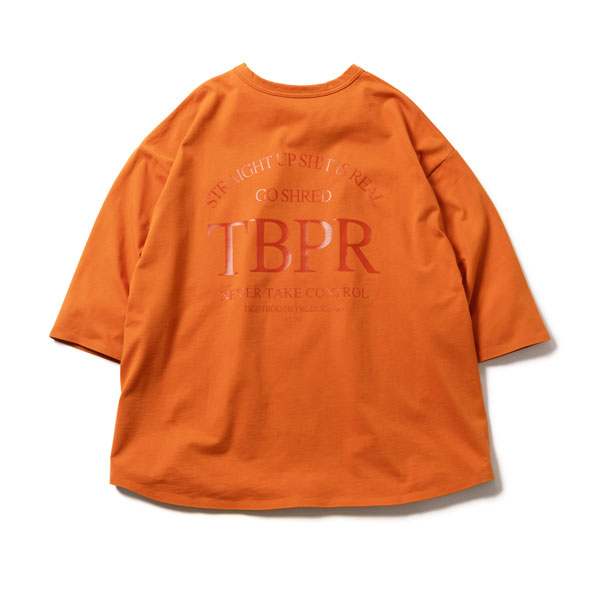 【TIGHTBOOTHPRODUCTION-タイトブースプロダクション】STRAIGHT UP 7 SLEEVE 【ORANGE】