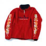 "【doublet/ダブレット】""POLYESTER""FLEECE HALF-ZIP PULLOVER【c/# RED】"