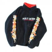 "【doublet/ダブレット】""POLYESTER""FLEECE HALF-ZIP PULLOVER【c/# BLACK】"