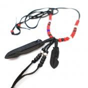 【RoosterKing&Co.-ルースターキング】JD Leather Feather Necklace