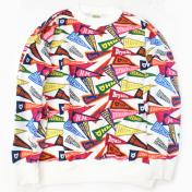 【HUMAN MADE-ヒューマンメイド】PENNANT SWEAT SHIRT【WHT】