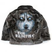 【doublet/ダブレット】ANIMAL HAND-PAINTED FUR JACKET【HUSKY】