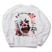 "【doublet/ダブレット】""HORROR""EMBROIDERY SWEAT SHIRT【WHT】"