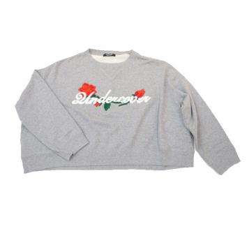 【UNDERCOVER-アンダーカバー】【Lady's】WIDESWEAT ROSEUndercover em【TOP GRAY】