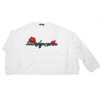 【UNDERCOVER-アンダーカバー】【Lady's】WIDESWEAT ROSEUndercover em【WHITE】