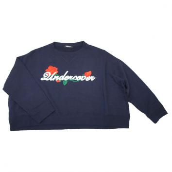 【UNDERCOVER-アンダーカバー】【Lady's】WIDESWEAT ROSEUndercover em【NAVY】