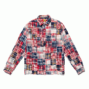 【HUMAN MADE-ヒューマンメイド】PATCHWORK L/S SHIRT 【RED】