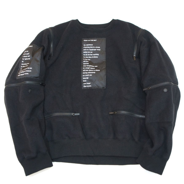 【TheSoloist-ソロイスト】shoulder zip crew neck l/s sweatshirt