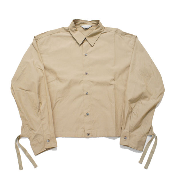 【UNUSED - アンユーズド】OPEN BACK SHIRT【BEIGE】