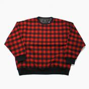 【Rags McGREGOR-ラグスマックレガー】WOOL CHECK PULLOVER /WOOLRICH 【RED】