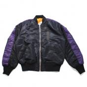 【FULL-BK/フルビーケー】WIDE LINE BOMBER MA-1【BLACK】
