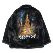 【doublet/ダブレット】HAND-PAINTED FUR JACKET 【BLK】