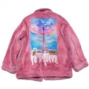 【doublet/ダブレット】HAND-PAINTED FUR JACKET 【PINK】