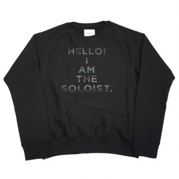 【TheSoloist-ソロイスト】crew neck freedom l/s sweatshirt.【BLACK】