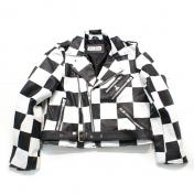【vellbeck-ベルベック】CHECKER FLAG LEATHER JACKET