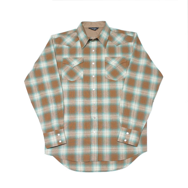 【UNUSED - アンユーズド】CHECK WESTERN SHIRT【BROWN×GREEN】