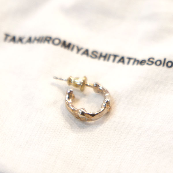 【TheSoloist-ソロイスト】bone shaped earrings【SILVER】