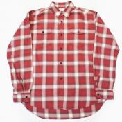 【Rags McGREGOR-ラグスマックレガー】OMBRE CHECK BLEACH SHIRTS【RED】