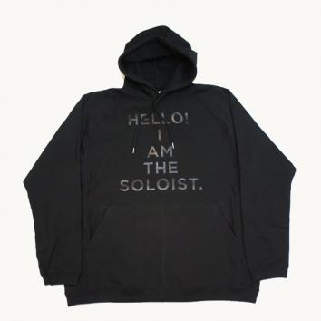 【TheSoloist-ソロイスト】oversized pullover freedom l/s hoodie.【BLACK】