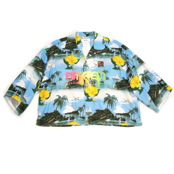 【doublet/ダブレット】GRADATION NEON EMBROIDERY ALOHA SHIRT【BLUE SKY】