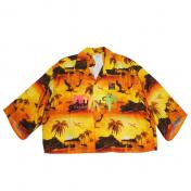 【doublet/ダブレット】GRADATION NEON EMBROIDERY ALOHA SHIRT【SUNSET】