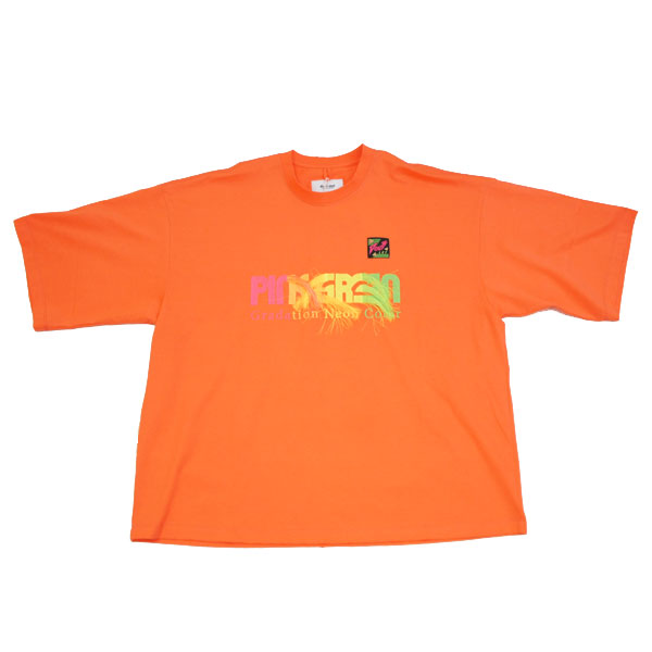 【doublet/ダブレット】GRADATION NEON EMBROIDERY T-SHIRT【PINK】