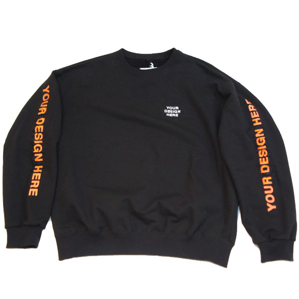 【doublet/ダブレット】DOUBLE WORD 3D EMBROIDERY SWEAT【BLK】