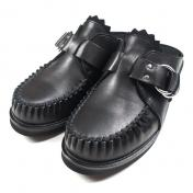 【foot the coacher】CUT-OFF RING MOCCASIN【BLK】